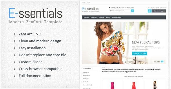 E-ssentials - Responsive ZenCart Template - Zen Cart eCommerce