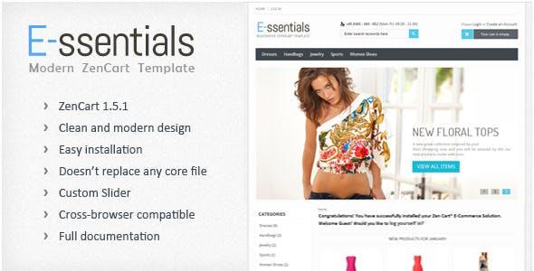 E-ssentials - Responsive ZenCart Template
