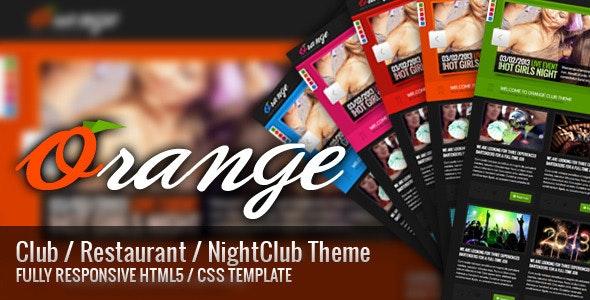 Orange - Responsive HTML Club/Restaurant Theme - Restaurants & Cafes Entertainment