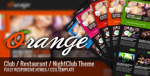 Orange - Responsive HTML Club/Restaurant Theme