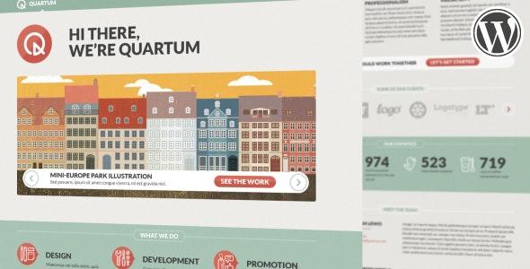Quartum Responsive Portfolio WP Theme - Portfolio Creative