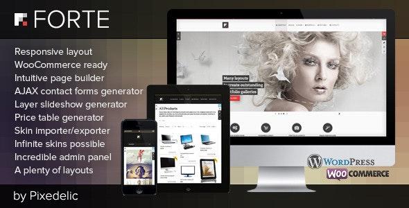 Forte — Multipurpose WP Theme (WooCommerce Ready) - WooCommerce eCommerce