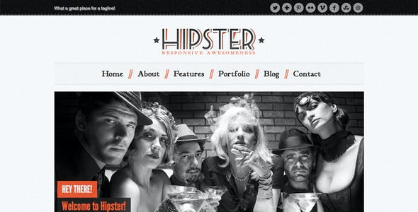 Hipster: Retro Responsive HTML5 Template