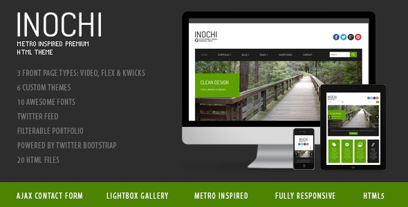 Inochi - Metro Inspired Clean Template - Business Corporate