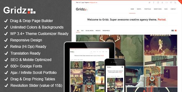 Gridz - Creative Agency Retina Ready WP Theme - Creative WordPress