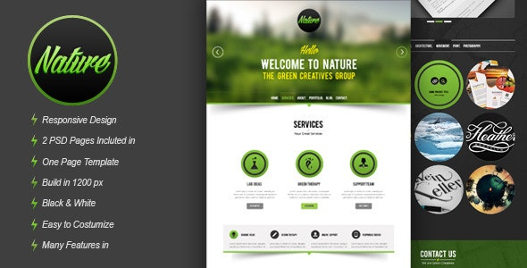 Nature Psd Template - Creative Photoshop