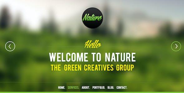 Nature Psd Template