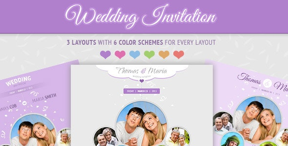 Wedding Invitation - Soft and Clean Email Template - Email Templates Marketing