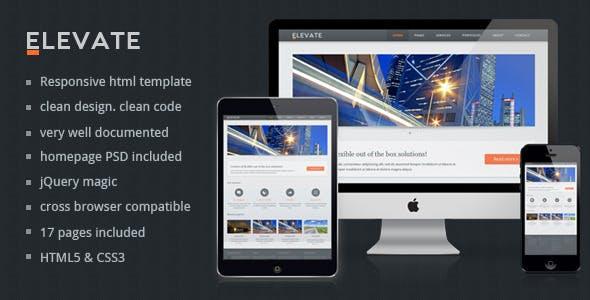 Elevate - Responsive Multipurpose HTML Template