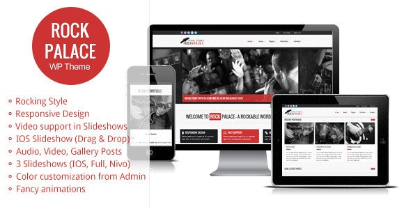 Rock Palace - Music Wordpress Theme - Music and Bands Entertainment