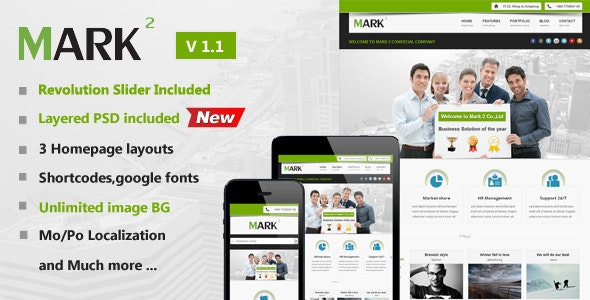 Mark2 Multi-Purpose WordPress Theme - Business Corporate