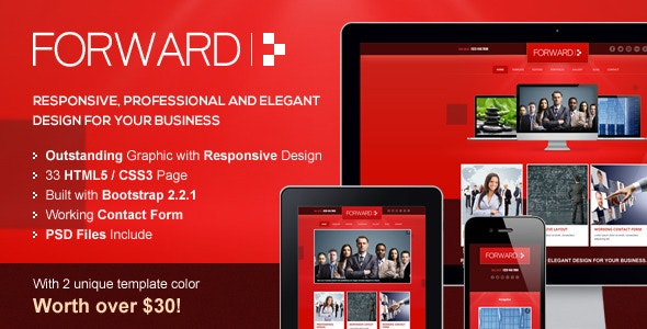 Forward - Professional Responsive HTML Template - Corporate Site Templates