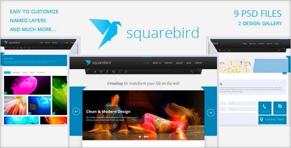 Squarebird - PSD Multipurpose Theme - Corporate Photoshop
