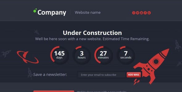 Easy Under Construction Page with Pie Countdown