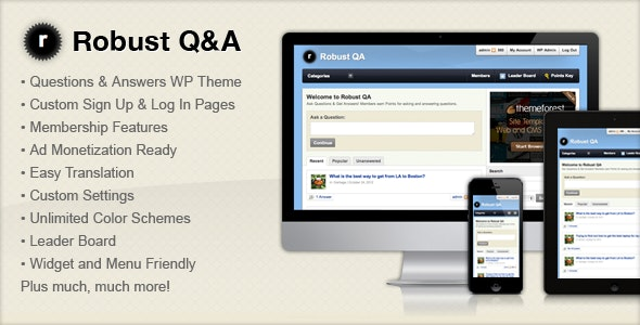 Robust Q&A - Miscellaneous WordPress