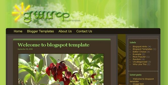Greencrop Blogger Templates - Blogger Blogging