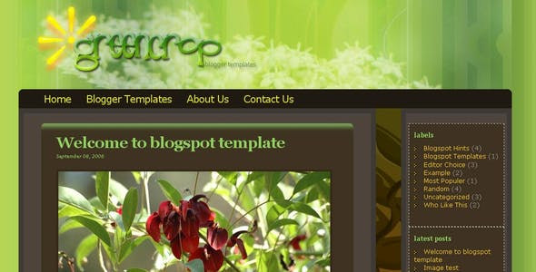Greencrop Blogger Templates