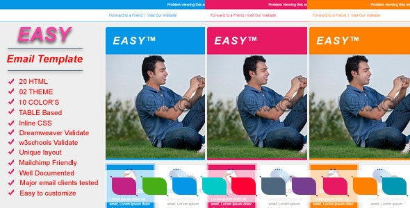 Easy - Email Template - Email Templates Marketing