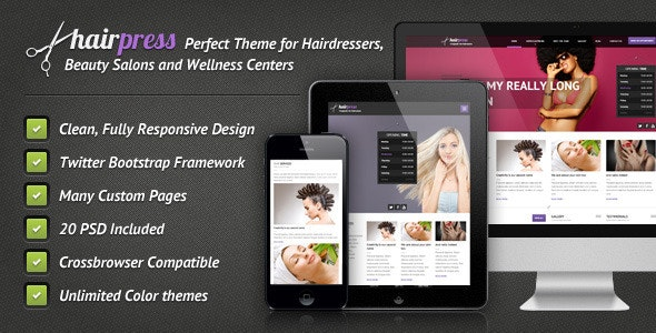 Hairpress - HTML Template for Hair Salons - Health & Beauty Retail