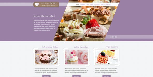 JustCakes - Cake Bakery HTML template