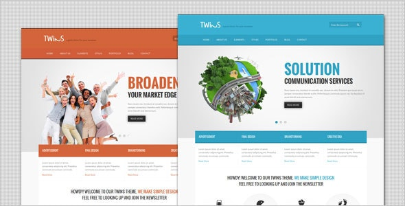 Twins - Corporate Business WordPress Theme - Business Corporate