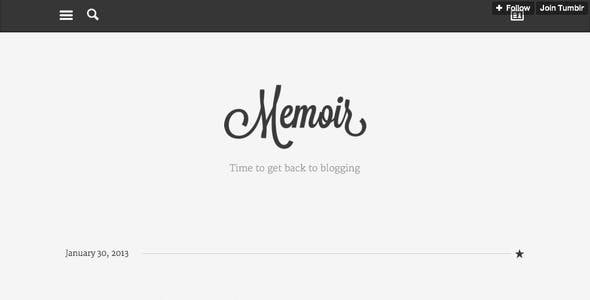 Memoir Tumblr Theme