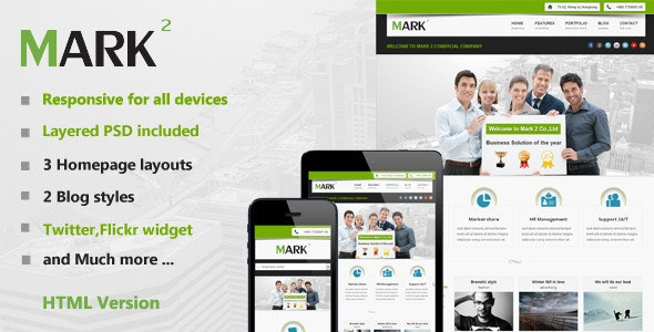 Mark2 Multi-Purpose HTML Template - Corporate Site Templates
