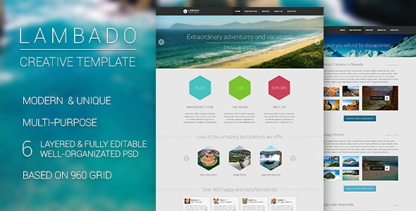 Lambado - Creative Template - Retail Photoshop