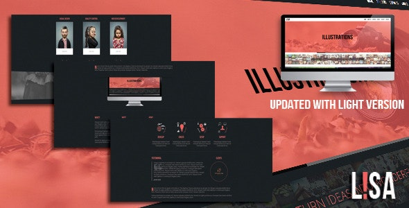 Lisa - Responsive One Page Parallax Template - Creative Site Templates
