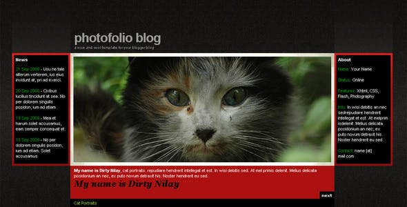 Photofolio Blogger Template