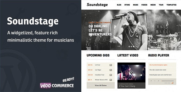 Soundstage - WordPress Theme For Bands/Musicians  - Music and Bands Entertainment