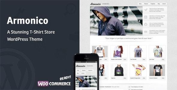 Armonico - A Stunning Tee Store WordPress Theme - WooCommerce eCommerce