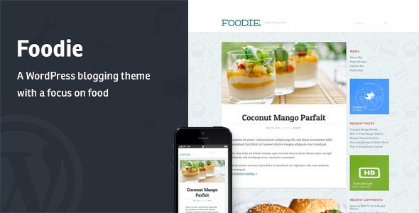 Foodie - A Whimsical Food Blogging Theme - Personal Blog / Magazine