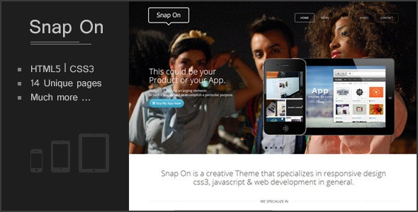 Snap-On Responsive WD - Creative Site Templates