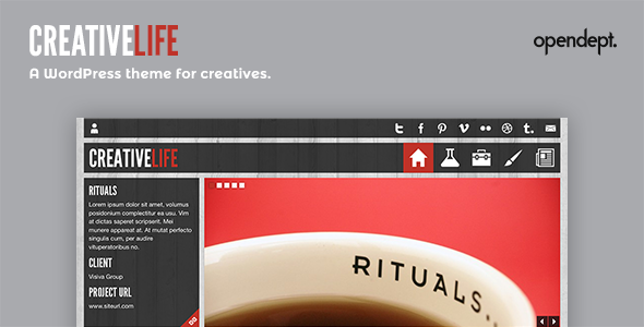 CreativeLife - WordPress Theme For Creatives - Portfolio Creative