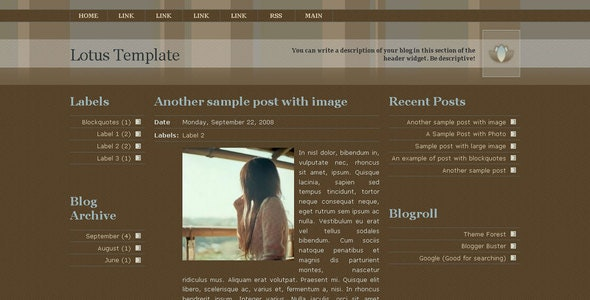 Lotus Template for Blogger - Blogger Blogging