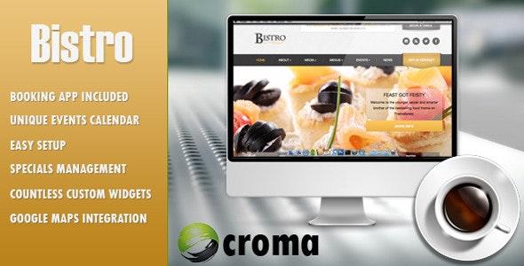 Bistro - Responsive Foodie App-theme - Restaurants & Cafes Entertainment