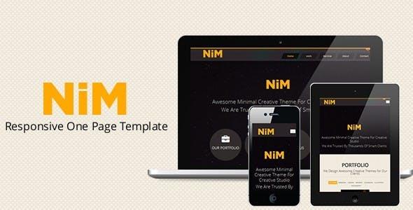 NiM- Responsive One Page Creative Template