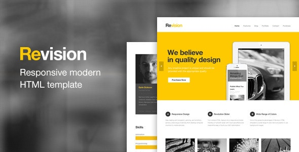 Revision - Responsive HTML5 Template - Business Corporate