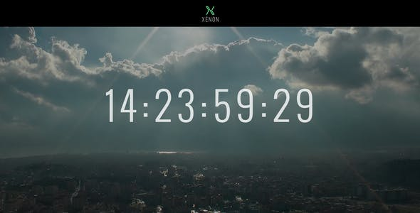 Xenon — Countdown & YouTube Video Background Page