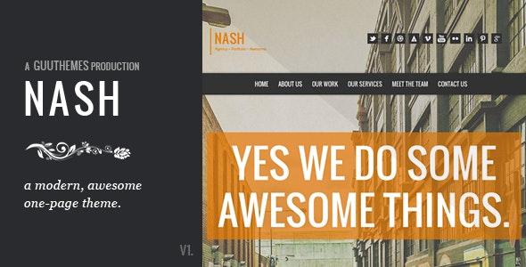 NASH - Responsive HTML5 One Page Theme - Portfolio Creative