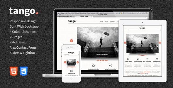 Tango - Responsive HTML5 Template - Portfolio Creative