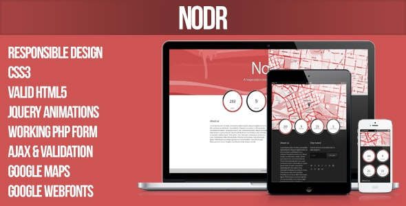 Nodr - A responsive coming soon template - Under Construction Specialty Pages