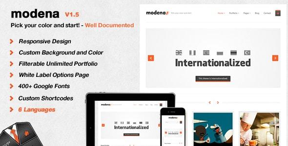 Modena Responsive Portfolio WordPress Theme - Portfolio Creative