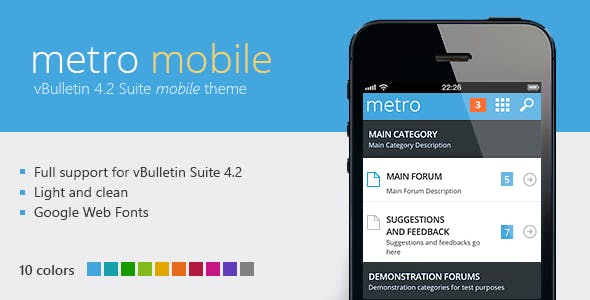 Download Metro Mobile - A Theme for vBulletin 4.2