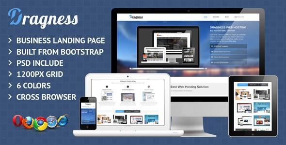 Dragness Business & Portfolio Landing Page - Corporate Landing Pages