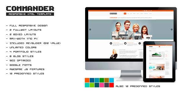 COMMANDER - Responsive HTML Template - Corporate Site Templates