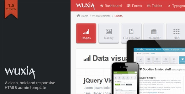 Wuxia Responsive Admin Template by WalkingPixels | ThemeForest