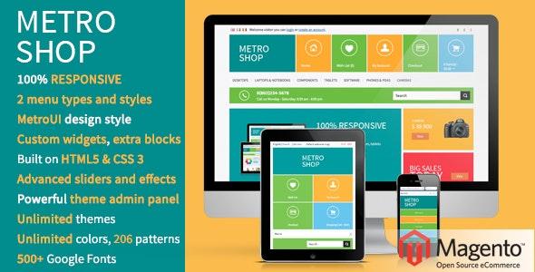MetroShop – Responsive Magento theme! - Technology Magento