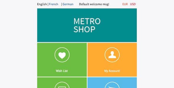 MetroShop – Responsive Magento theme!